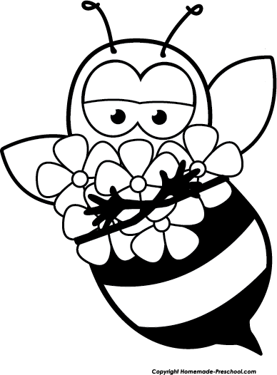 On flower drawing at. Bee clipart sketch