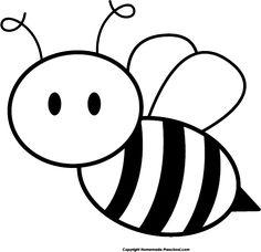 Cute cartoon clip art. Bee clipart sketch