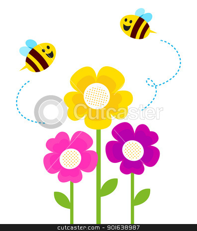 Bees clipart spring. Cute bee