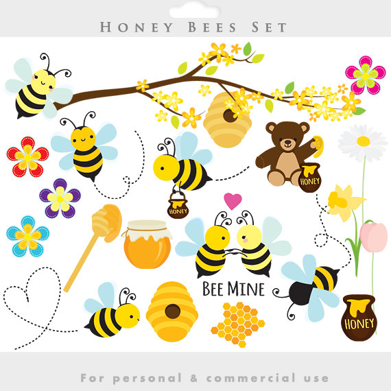 Bees clipart honey bee. Clip art spring bumblebees