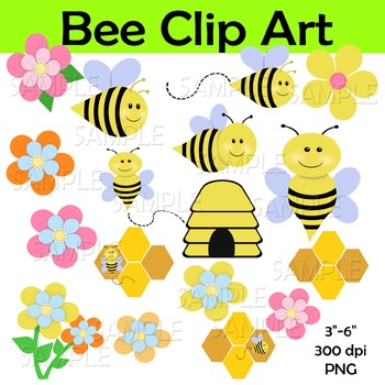 Bee clip art bumble. Bees clipart summer