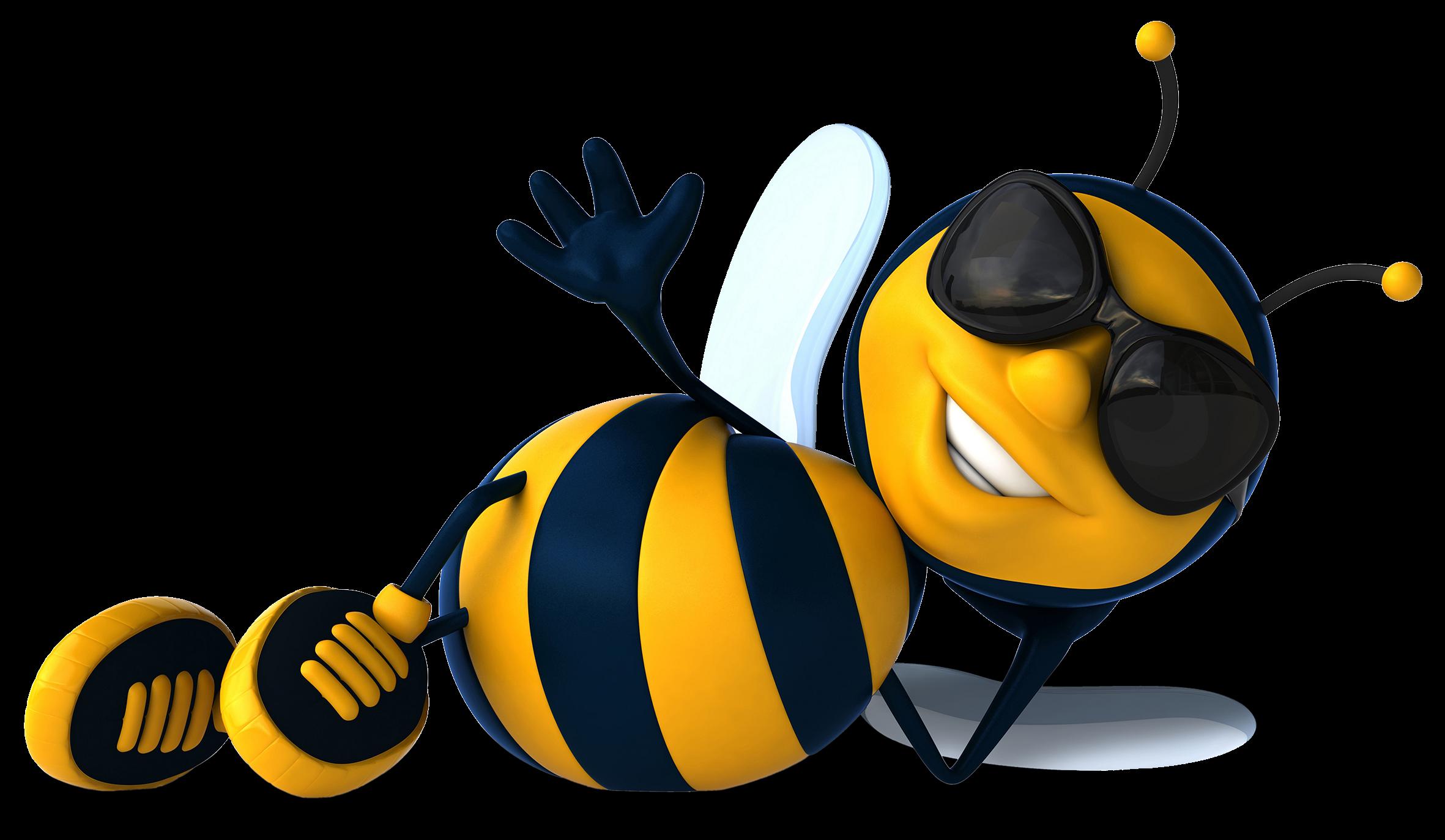 Bee clipart summer.  font