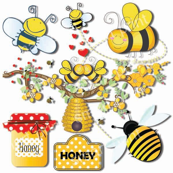 Bee clipart summer. Bumble clip art beehive