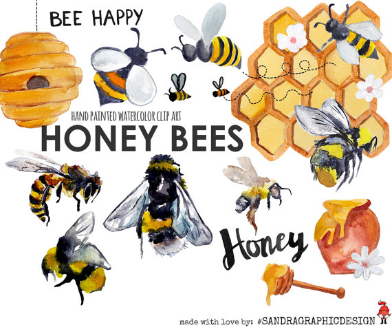 Bees clipart summer. Honey bee clip art