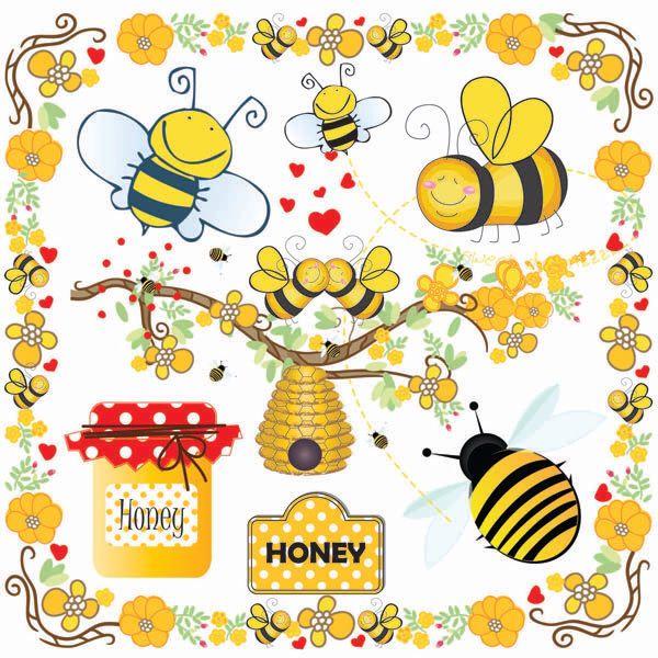 Bees clip art bumble. Bumblebee clipart buzzy bee