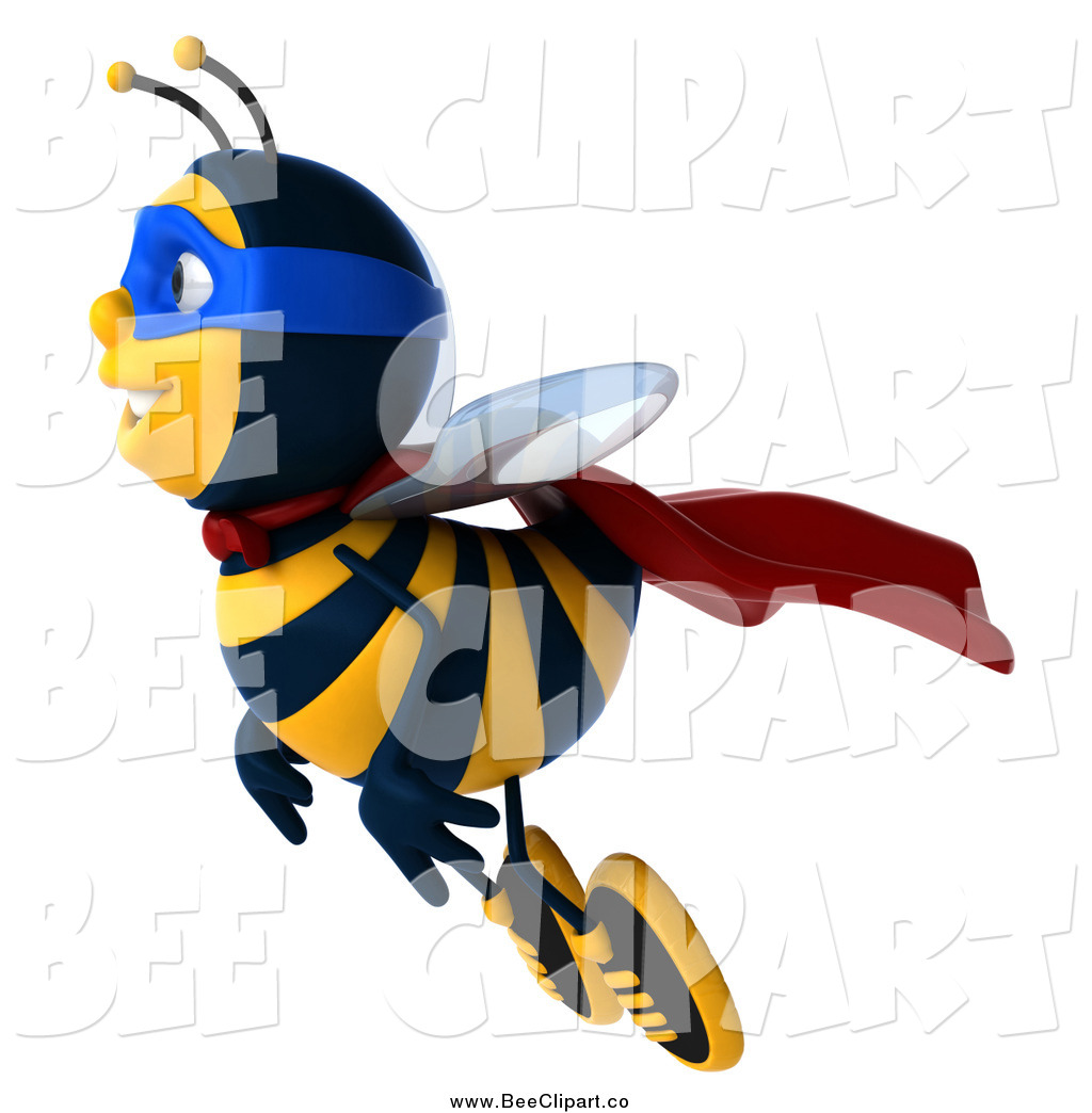 Royalty free super hero. Bees clipart superhero