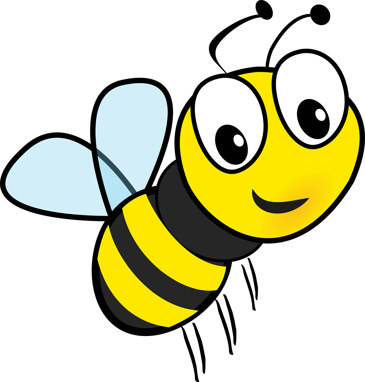 Surprise pictures of cartoon. Bee clipart transparent background