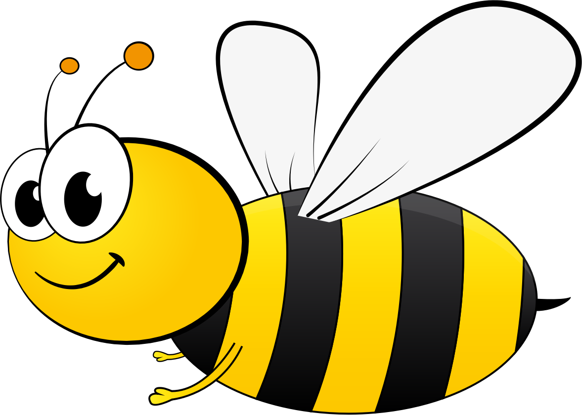 Cartoon bees free download. Number 4 clipart bee