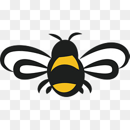 Bee clipart transparent background. Png images download resources
