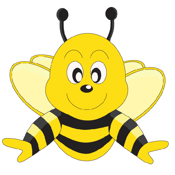 Number 4 clipart bee. Funny cartoon valentine love