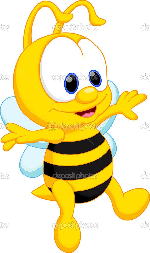 Caricatura lindo beb abeja. Bees clipart vector