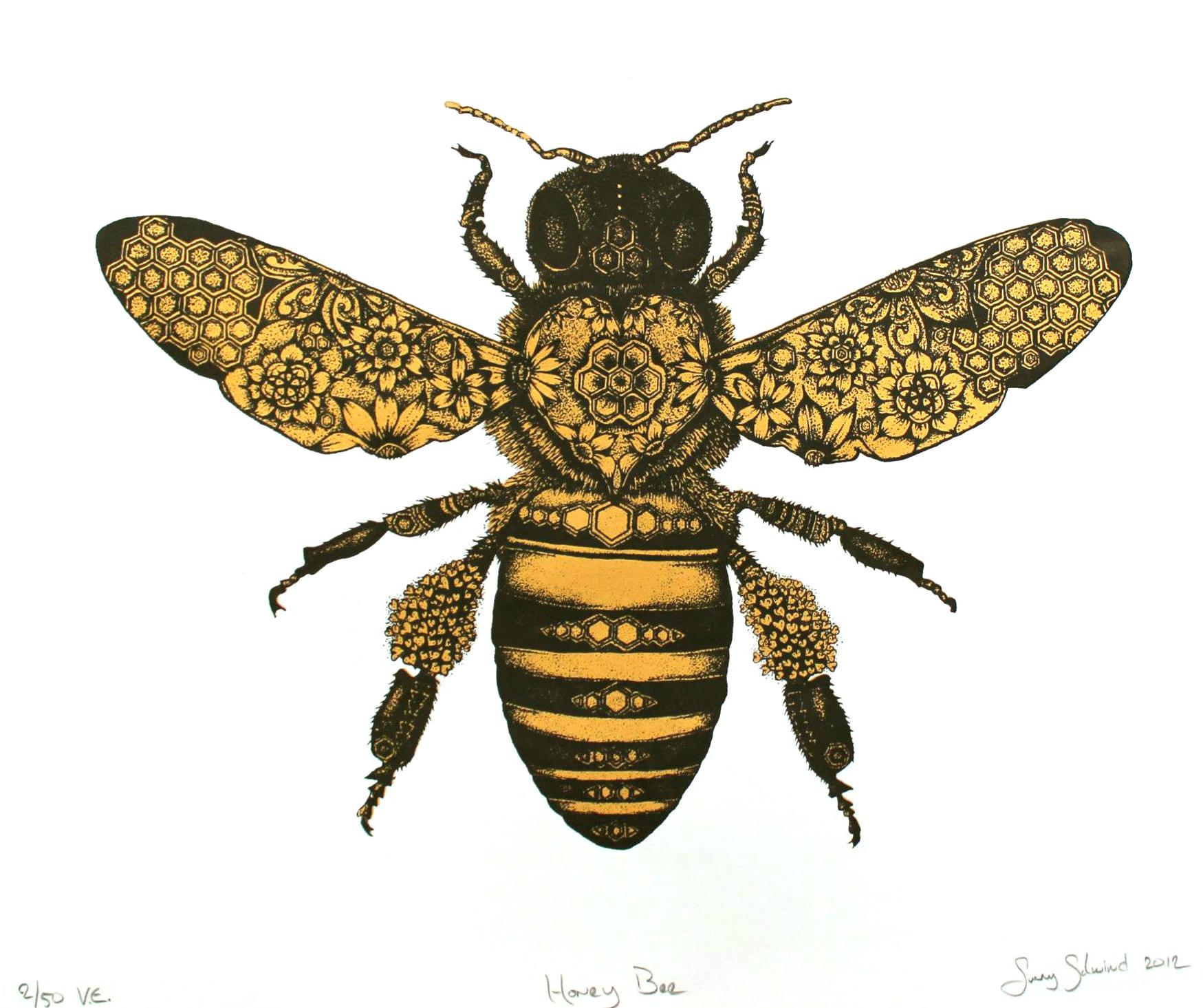 Bees clipart vintage. Honeybee honey bee clipartfest