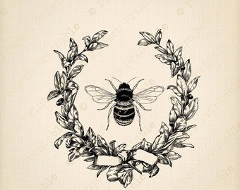 Printable honey graphics in. Bee clipart vintage