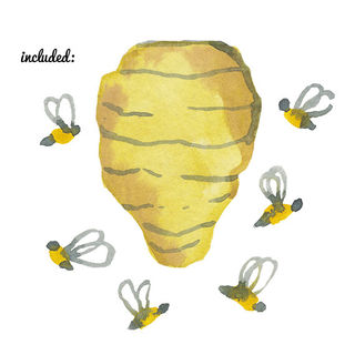Bees clipart watercolor. Honey bee clip art