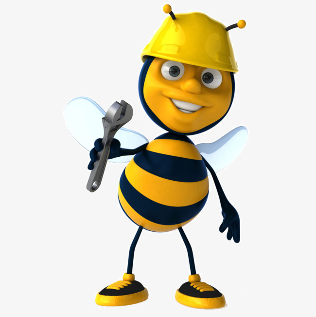 Bee clipart worker bee. Repair bees wrench maintenance