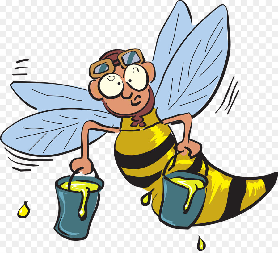 Western honey insect clip. Bee clipart worker bee