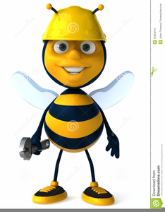Free images at clker. Bees clipart worker bee