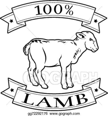 Beef clipart 100 percent. Vector art lamb food