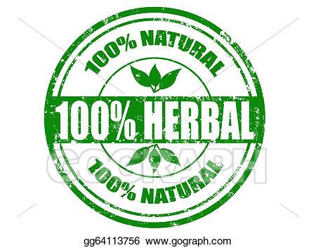Vector stock herbal stamp. Beef clipart 100 percent