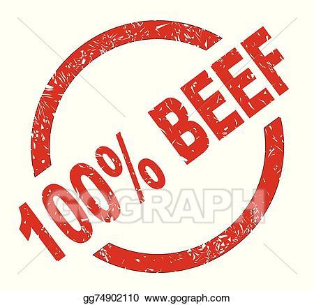 Vector art drawing gg. Beef clipart 100 percent