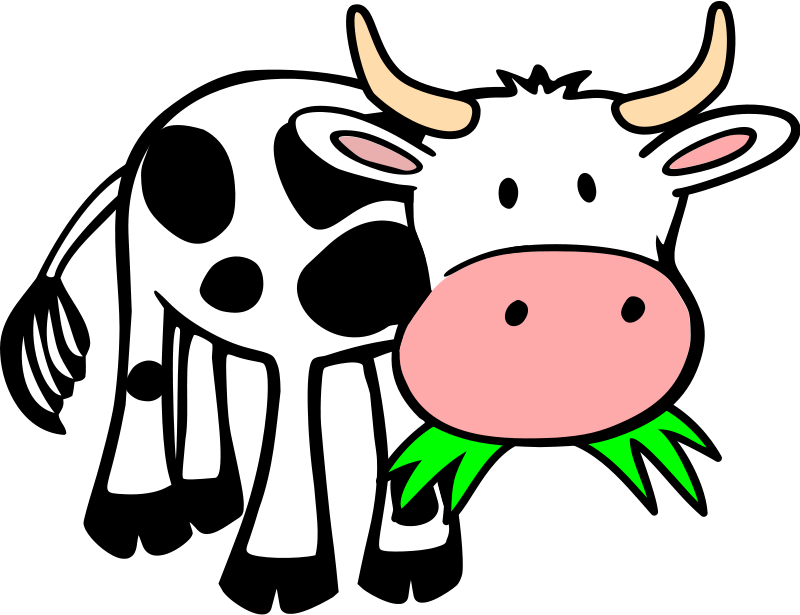 Clipart cow simple. Animations free graphics of
