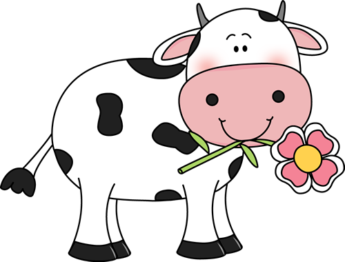 Clipart cow flower. With a in its