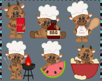 Beef clipart beaf. Clip art etsy barbque