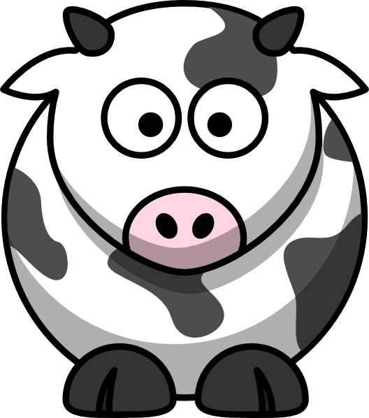 Cartoon Cow clip art Free vector in Open office drawing svg