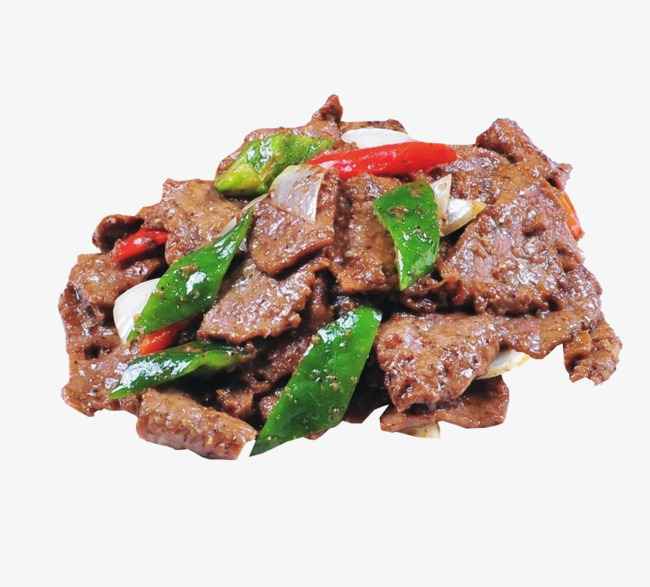 Fried black pepper food. Beef clipart cooked meat