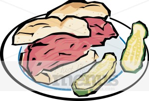 Picnic sandwich. Beef clipart corned beef