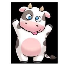 Armadillo clipart kawaii. Cow clip art farm
