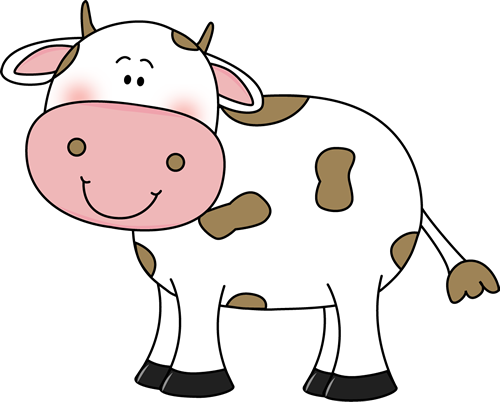 Cow clipart cute. Clip art with brown