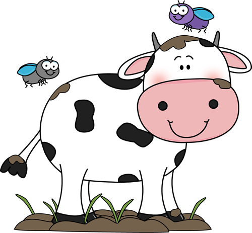 Cow clipart. Cute clip art in