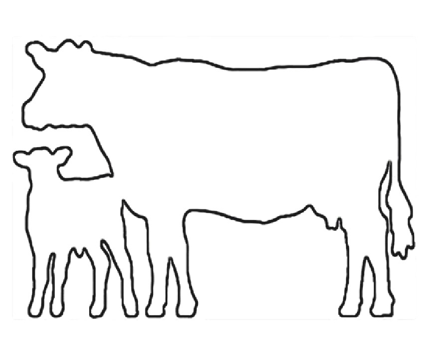 Beef silhouette at getdrawings. Clipart cow craft