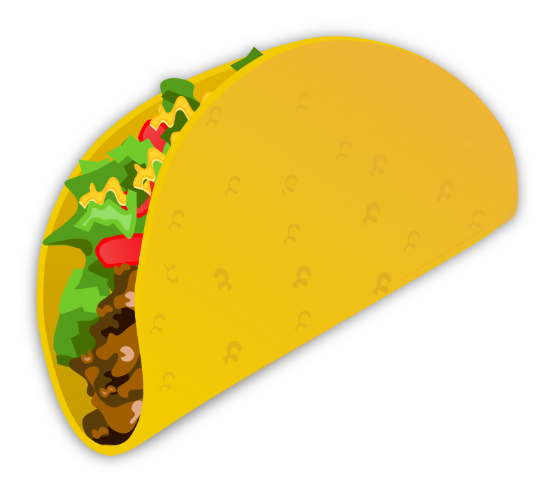 Tacos clipart taco person. Tuesday my simple ground