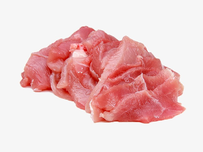 Slice meat raw food. Beef clipart pork