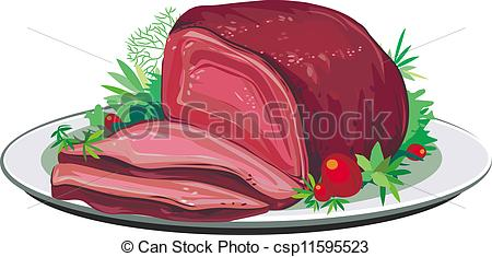 Beef clipart pork. Roast