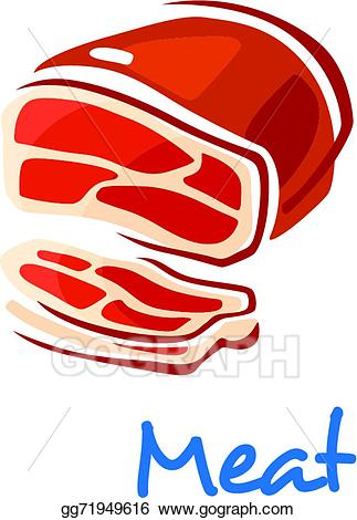 Vector art fresh drawing. Beef clipart raw meat