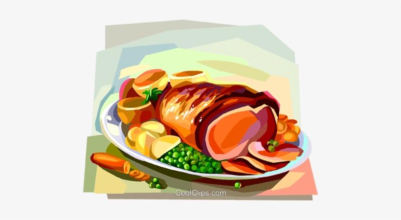 Dinner clipart sunday dinner. Roast beef british