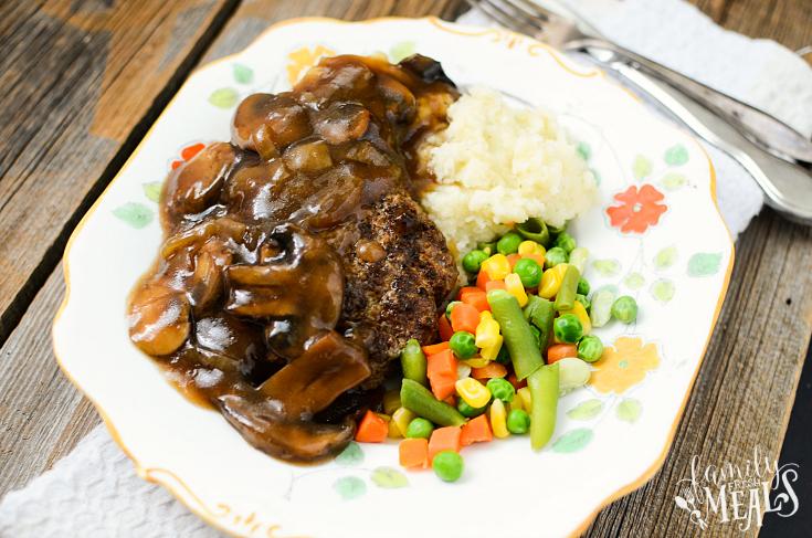 Crockpot family fresh meals. Beef clipart salisbury steak