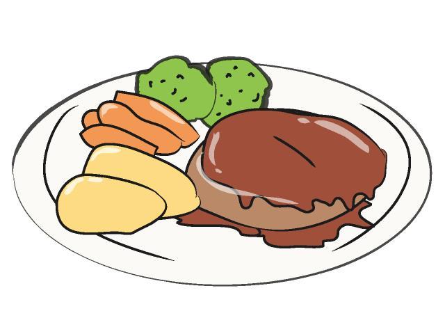 Beef clipart salisbury steak. Free dinner clipartmansion com