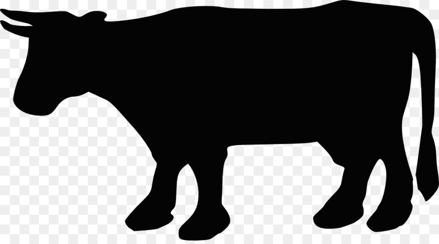 Cattle clip art cow. Beef clipart silhouette