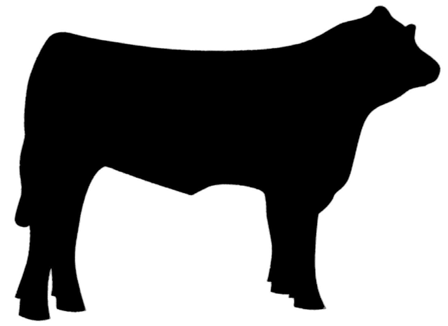 Beef clipart silhouette. Panda at getdrawings com