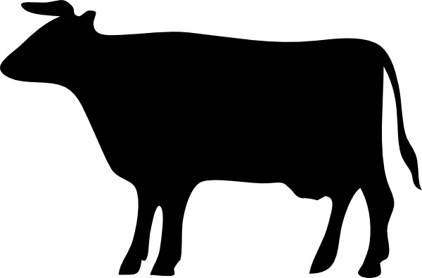 Cow Silhouette clip art Free vector in Open office drawing svg