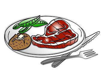 Meat clipart steak. Free image clipartix