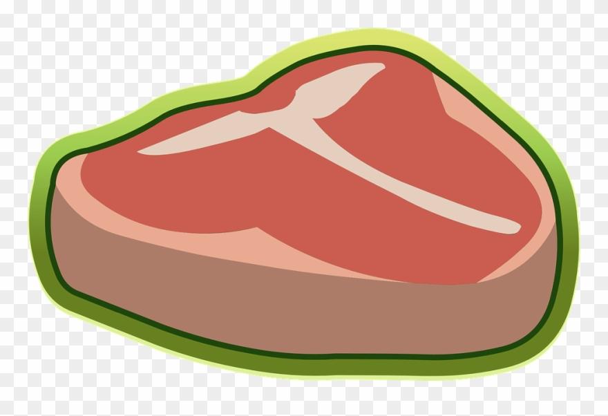 Meat raw sirloin beefsteak. Beef clipart steak