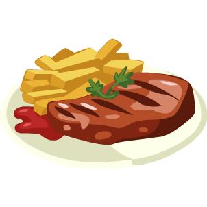 Beef clipart steak. Meal clip art free