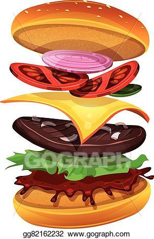 Beef clipart steak sandwich. Vector illustration fast food