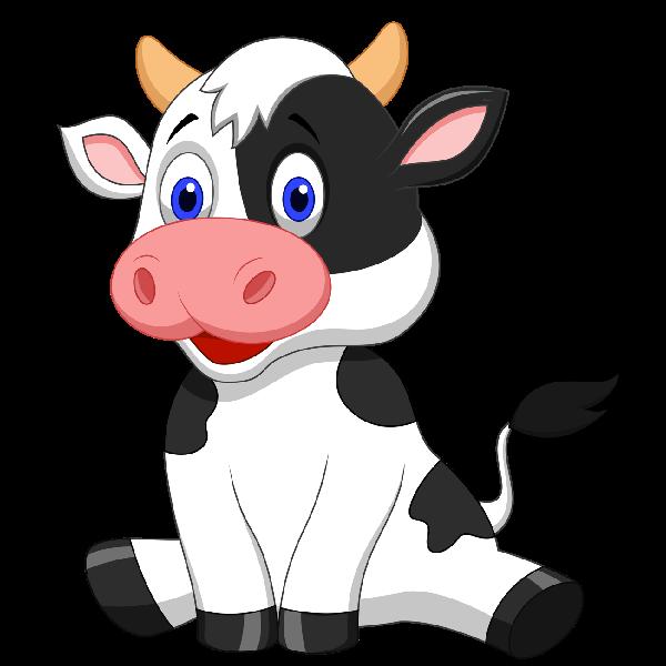 Funny farmyard cows clip. Clipart cow animal