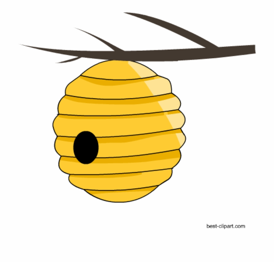 Beehive clipart. Free honey bee and